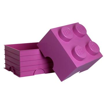 Lego - Storage Box 4, pink - open