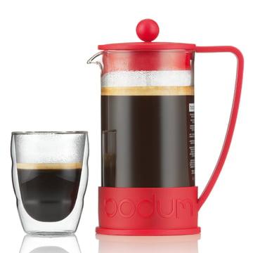 Bodum - Brazil Coffee Maker, 1.0 l, red - with glass
