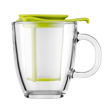 Bodum - Yo-Yo Set - Glass cup, plastic filter 0.35l, lime
