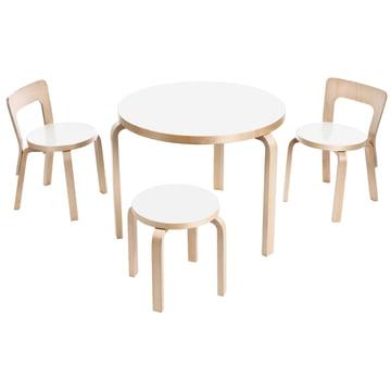 Artek - Table 90B, Children's Chair N65 and Children's Stool NE60