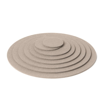 Hey Sign - Round Trivet, light mottled - pile