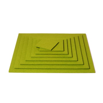 Hey Sign - Square Trivet, verde - pile