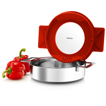 Eva Solo - Gravity Pot, low, 24 cm, red