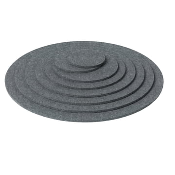 Hey Sign - Trivet round - grey