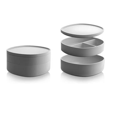Alessi - Birillo Bathroom Container PL17, white - individual compartments