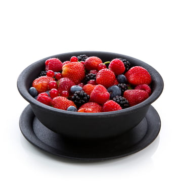 Royal VKB - Fresh Berry Bowl, anthracite - open, with berries