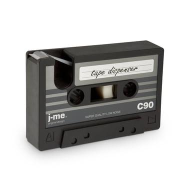 j-me - cassette tape dispenser, black