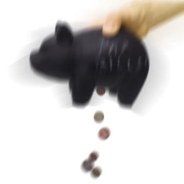Luckies - Capitalist money pig - shake / empty