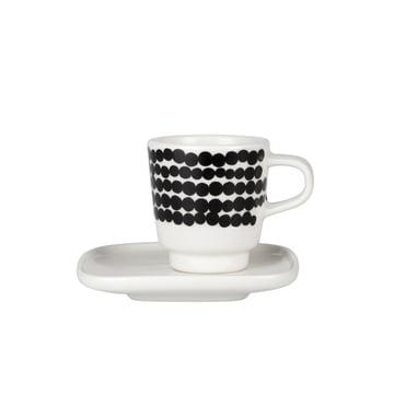 Marimekko - Oiva Räsymatto Espressotasse schwarz / weiß