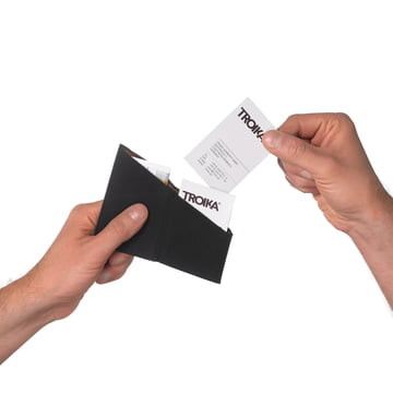 Troika - Kniff 2 Business Card Case - black - kink
