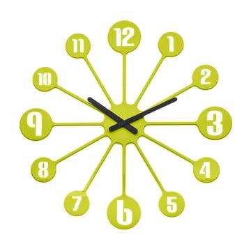Koziol - Pinball Wall Clock, green