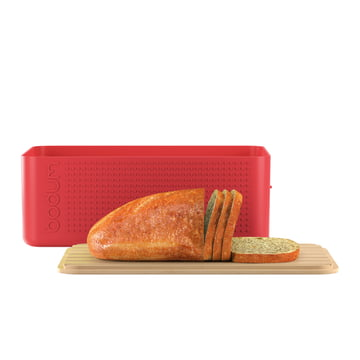 Bodum - Bistro Bread Bin, red