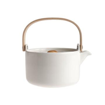 Marimekko - Oiva Räsymatto teapot, white