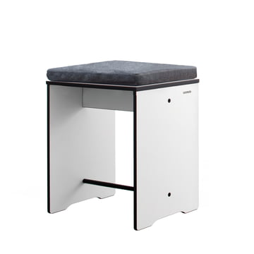 Conmoto - Riva Stool / Side Table, white