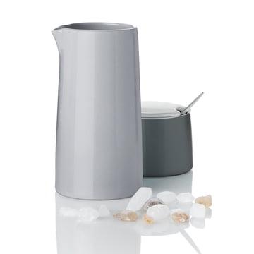 Stelton - Emma Vacuum Milk Jug 0.3 l, grey and Sugar Bowl
