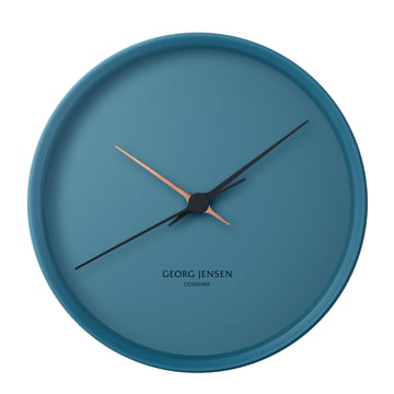 Georg Jensen - Henning Koppel Wall Clock Graphic Ø 22 cm, blue
