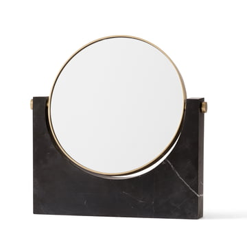 Menu - Pepe Marble Mirror, brass / black