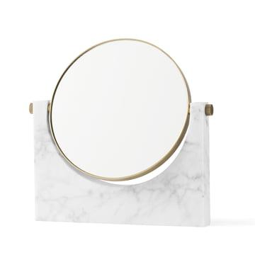 Menu - Pepe Marble Mirror, brass / white