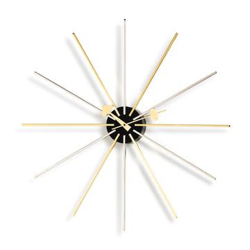 Vitra - Star Clock, chrome / brass