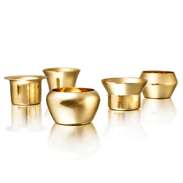 Skultuna - Kin Tea Light Holder (set of 5 pieces), brass