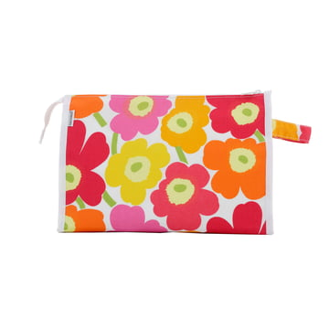 Marimekko - Mini-Unikko Media Cosmetic Bag, white / orange