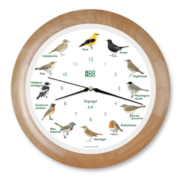 KooKoo - Songbird Wall Clock RC, wood