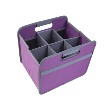 meori - Sixpack, grey / Classic Folding Box 15 Litre, midnight magenta