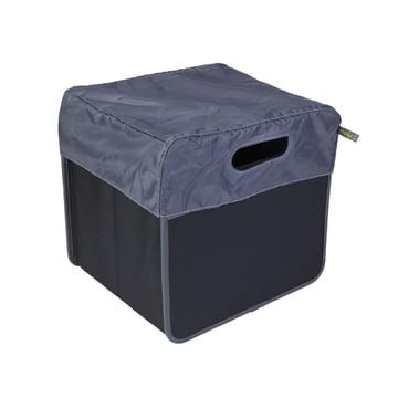 meori - Cover 15 Litre, grey / Classic Folding Box 15 Litre, Lava black plain