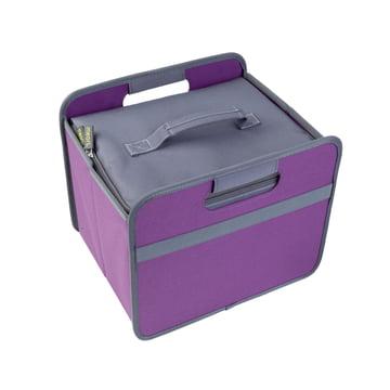 meori - Cooler, grey / Classic Folding Box 15 Litre, midnight magenta