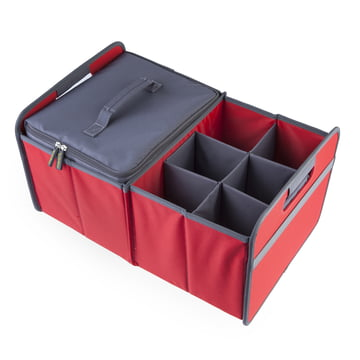 meori - Cooler, grey / Sixpack, grey / CLASSIC Foldable Box 30 Litre, Hibiscus Red solid