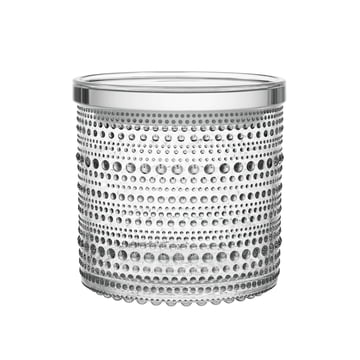 Kastehelmi jar 116 x 114 mm by Iittala made of clear glass