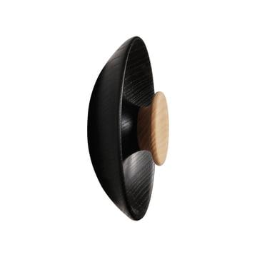 Double coat hook in black by Norrmade