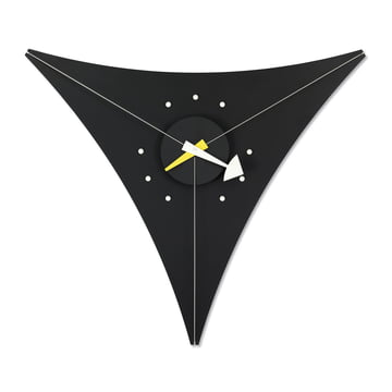 Nelson Triangle Clock by Vitra in black