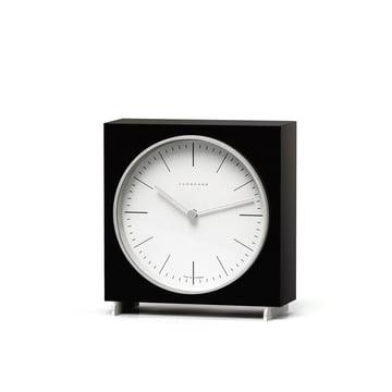 Max Bill Quartz desk clock by Junghans in black