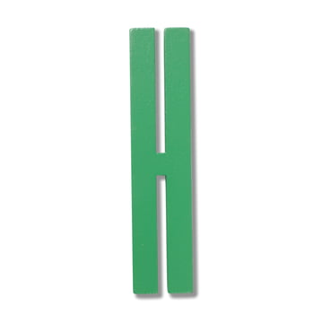 Design Letters - Wooden Letters Indoor H, green