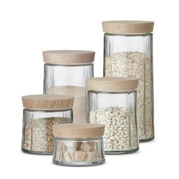 Grand Cru storage jar with oak lid by Rosendahl