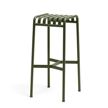 the Palissade barstool by Hay in olive