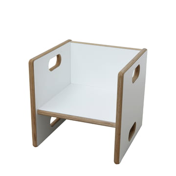 debe.detail Convertible Chair by de Breuyn in white / seat height 17cm