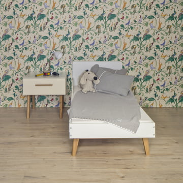 debe.deline Children's Bed and Beside Table with drawer by de Breuyn