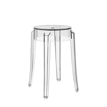Kartell - Charles Ghost stool height 46 cm, crystal clear