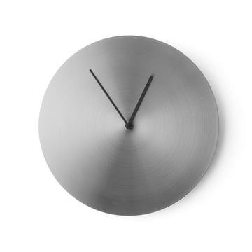 Menu - Norm Wall Clock, brushed stainless steel