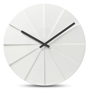 Leff amsterdam - Scope45 Wall Clock, white with black clock hands