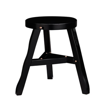 Offcut Stool by Tom Dixon made of birch wood in black