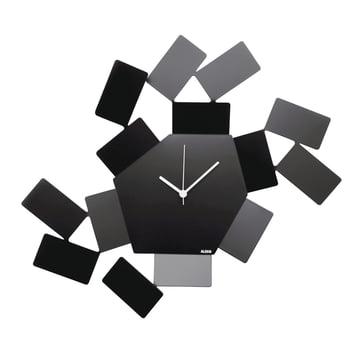 La Stanza Dello Scirocco wall clock by Alessi in black