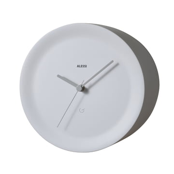Ora Out edge clock by Alessi in white