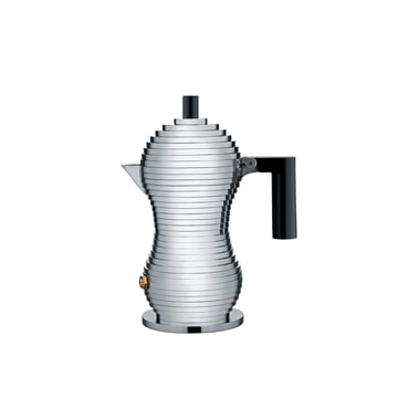 Pulcina Espresso Maker in Small by Alessi in Black