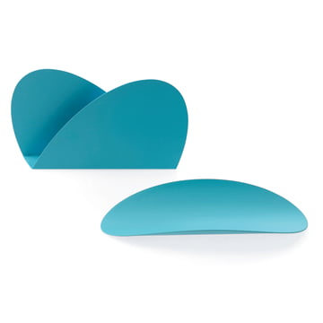 Ellipse Desk Set by Alessi in turquoise