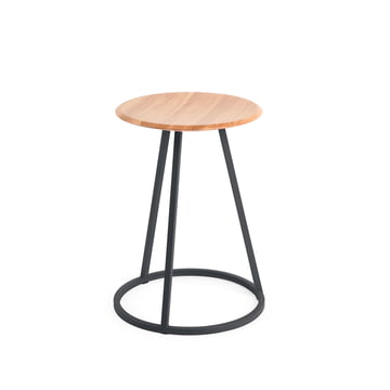 Petit Gustave Stool by Hartô in slate grey (RAL 7016)