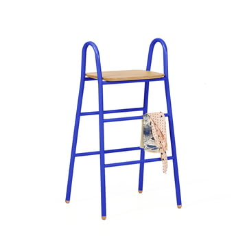 Lucien Stool by Hartô in blue (RAL 5002)