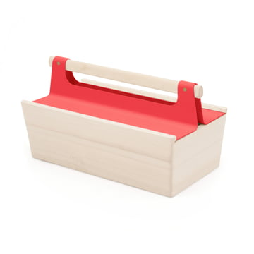 Louisette Toolbox by Hartô in strawberry red (RAL 3018)